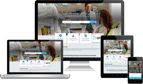 Dentists Australia displayed beautifully on multiple devices